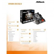 ASRock H110M-DVS R2.0 s1151 H110 2DDR4 USB3.0 uATX
