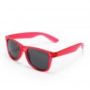 Geen Rode retro model zonnebril voor volwassenen