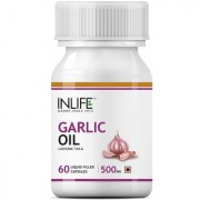 INLIFE Natural Garlic Oil 60 Capsules For Heart Cholesterol and Weight Loss