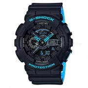 reloj digital analogico casio g-shock GA-110LN-1A-negro + azul neon