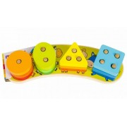 Jucarie MomKi cuburi din lemn sorteaza formele