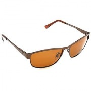 HRINKAR Men's Brown Mirrored Aviator Sunglasses