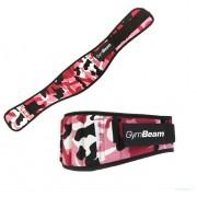 Ženski fitness remen Pink Camo – GymBeam camo S
