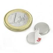 Magnet neodim disc cu autoadeziv, 12 mm, putere 1,3 kg