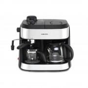 Resigilat: Espressor si cafetiera Orion OCCM-4616, 1800W, 1,25l, Cafea macinata, Negru/ Argintiu