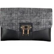ADAMIS Women Evening/Party Black Genuine Leather Sling Bag