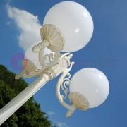 LIBERTI LAMP linea GARDEN Orione Bianco Lampione Bianco Da Esterno Giardino Sfera Globo D.25