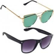 Reyda Wayfarer, Rectangular Sunglasses(Green, Violet)