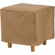 Classic Accessories Duck Covers Essentials 26Inch Square Patio Ottoman/Side Table Cover - Latte, Model EOT262618