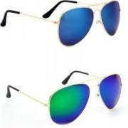Sulit Aviator, Wayfarer Sunglasses(Blue, Green)