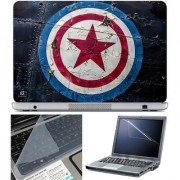 Finearts Laptop Skin 15.6 Inch With Key Guard & Screen Protector - Captain America Logo