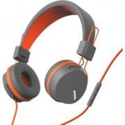 """Headphones """"NEXT"""" gray / ORANGE"""