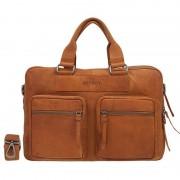 DSTRCT Wall Street Laptop Bag Cognac 13-15 inch