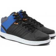 ADIDAS NEO HOOPS JUMPSHOT MID Mid Ankle Sneakers For Men(Black, Blue)