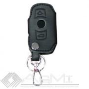 Husa cheie din piele pentru BMW Seria 1 E81, Seria 3 E90, Seroa 5 E60 F10, X1 X3 X5 X6 , cusatura neagra , pentru cheie cu 3 butoane