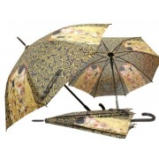 H.C.021-6505 Esernyő 100cm,Klimt: The Kiss, fekete