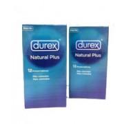 Durex Preservativos Natural Plus 12 Unidades Pack 2x1