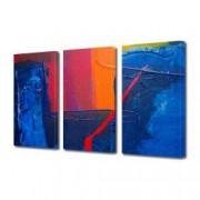 Tablou Canvas Premium Abstract Multicolor Colorat Albastru Rosu Portocaliu Decoratiuni Moderne pentru Casa 3 x 70 x 100 cm