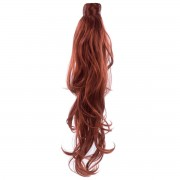 Rapunzel® Synthetische extensions Clip-in Ponytail Synthetic Beach Wave 6.13 Mahogany 50 cm