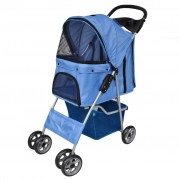 vidaXL New Blue Folding pet stroller dog/cat Travel Carrier