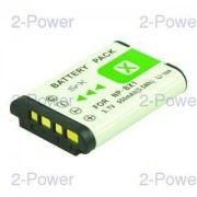 2-Power Digitalkamera Batteri Sony 3.7v 1000mAh (NP-BX1)