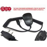 PJD-3605-F3002 MICRO ALTOPARLANTE 2 PIN 90° CON VITI PER ICOM CIVILI