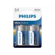 Philips LR20E2B/10 - 2 buc Baterie alcalina D ULTRA ALKALINE 1,5V
