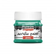 Pentart Fényes türkiz színű akril bázisú hobbi festék 50 ml