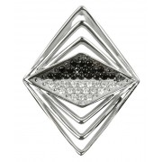 Silver Cat Stříbrný přívěsek s krystaly SC050