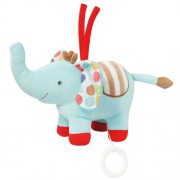 Stripes & Dots Fehn Musical Plush Elephant
