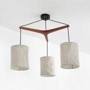 Hanglamp in hout en linnen, Watford