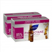 Phyto (Ales Groupe Italia Spa) Phyto Phytocyane Trattamento Anticaduta Donna Duo 12+12 Fiale