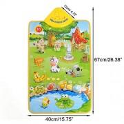 Krireen Baby Children Farm Animal Music Sound Touch Play Singing Gym Carpet Mat Toy Gift