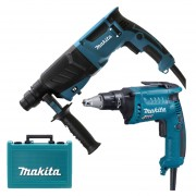 MAKITA HR2630 Ciocan rotopercutor SDS-plus 800W, 2.4J HR2630 + FS4000