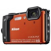 Nikon W300 Digitale camera 16 Mpix Zoom optisch: 5 x Oranje WiFi, Waterdicht, 4K Video, GPS, Schokbestendig, Stofdicht, Bluetooth, Full-HD video-opname