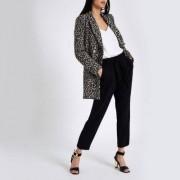 River Island Womens Black tie waist tapered trousers - Size 34 (EU)