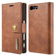 Sony Xperia X Compact Dg.Ming 2-in-1 Wallet Case - Brown