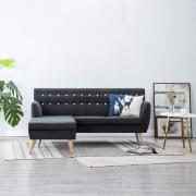 vidaXL Ъглов диван, тапицерия от текстил, 171,5x138x81,5 см, тъмносив