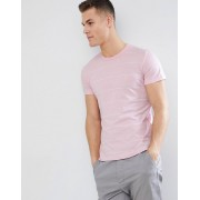 French Connection Thin Stripe T-Shirt - Pink mel/white