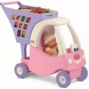 Masinuta de exterior pentru fetite cu cos de cumparaturi printesa Cozy Coupe