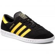 Pantofi adidas - Hamburg BY9756 Cblack/Eqtyel/Ftwwht