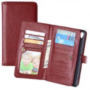 Sony Xperia Z5 Premium, Xperia Z5 Premium Dual Multifunctional Wallet Case - Brown