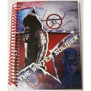 "Marvel Captain America The Winter Soldier College Ruled Spiral Notebook ~ Self-Titled (8"" x 10.5""; 7"