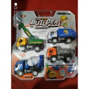 Jojoss Children's Toy Builder Truck Set of 4 Pcs in Assorted Color