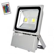 100w rgb met afstandsbediening LED-lampen overstroming licht openlucht landschap veiligheid spotlight commerciële lamp (AC85-265V)