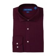 Vince Camuto Slim Fit Printed Stretch Dress Shirt DARK RED PRINT