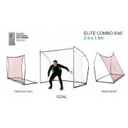 Combo Elite gol & odbijajuća mreža u 1 paketu 244 x 183 cm