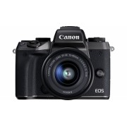 Aparat Foto Mirrorless Canon EOS M5 View Finder, EF-M 15-45, 24.2 MP, Filmare Full HD, Wireless, NFC (Negru)