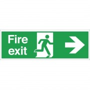 Nisbets Fire Exit Sign Arrow Right