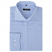vidaXL Csíkos fehér és kék XXL méretű üzleti férfi ing